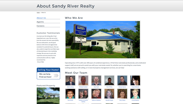 Sandy River Realty Interior page